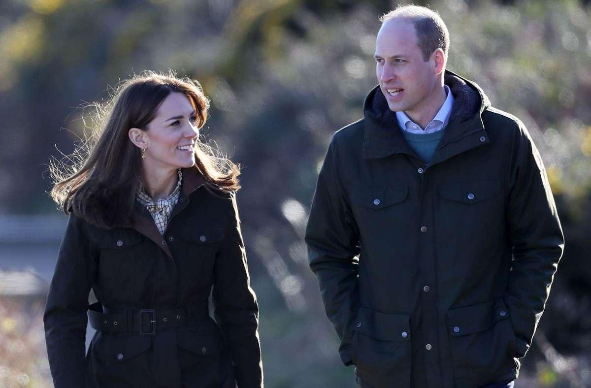 Die Welt wartet auf Fotos vom neuen Hund von Herzogin Kate und Prinz William. Foto: AFP/BRIAN LAWLESS