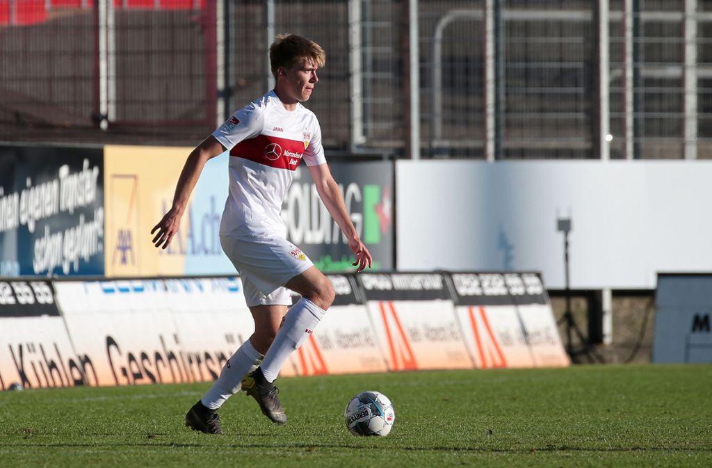 Luca Mack hat einen großen Schritt in Richtung Rückkehr ins Mannschaftstraining vollzogen. Foto: Pressefoto Baumann/Alexander Keppler