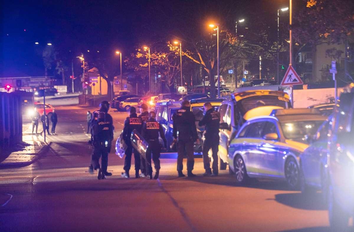 Der Mann bedrohte die Polizei. Er trug ein Messer bei sich. Foto: 7aktuell.de/Simon Adomat/7aktuell.de   Simon Adomat