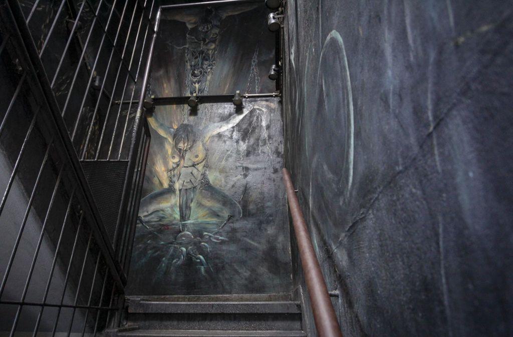 Diese Malerei ist im Treppenhaus zu sehen.  Foto: factum/Bach