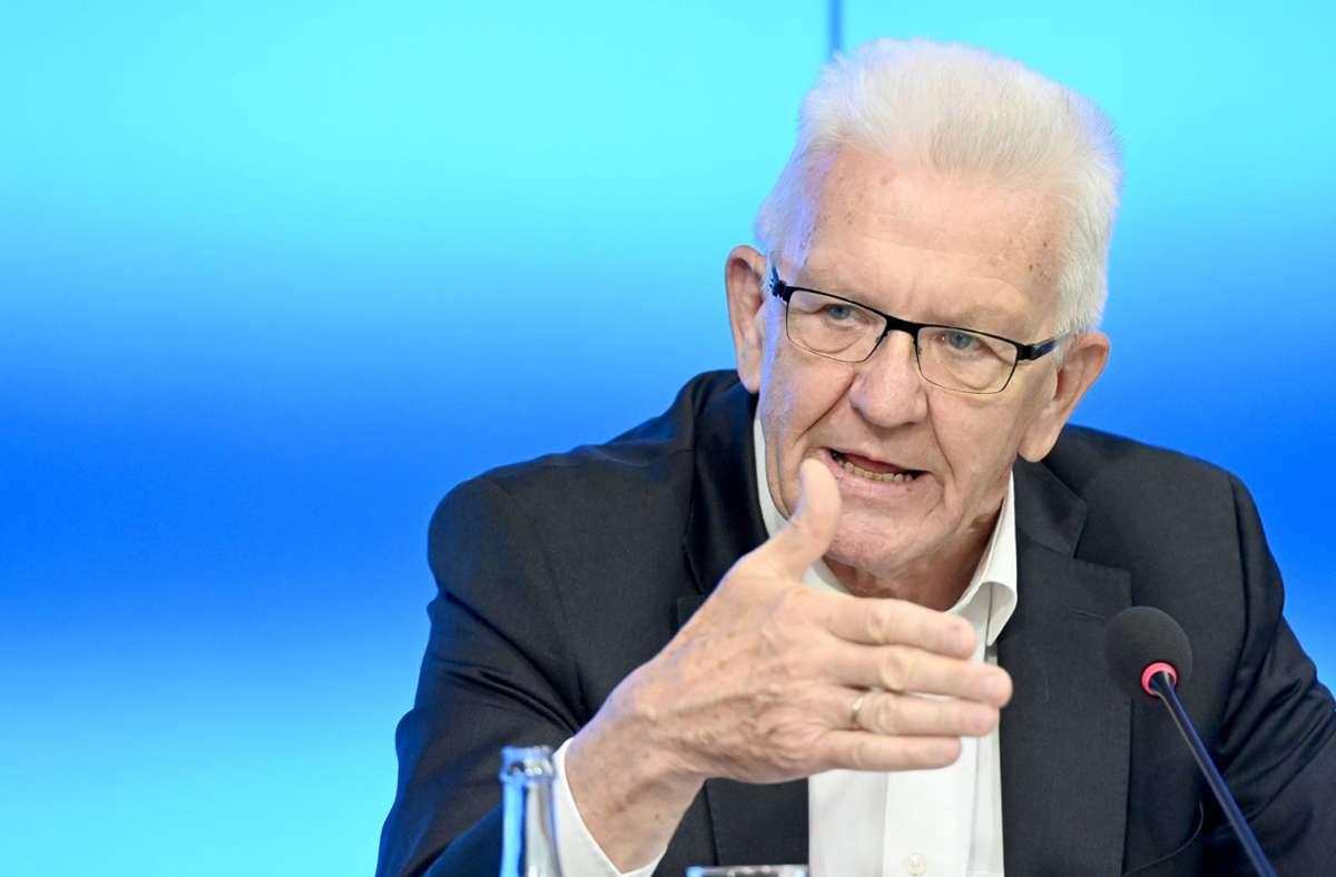 Ministerpräsident Winfried Kretschmann am Dienstag in Stuttgart. Foto: dpa/Bernd Weissbrod