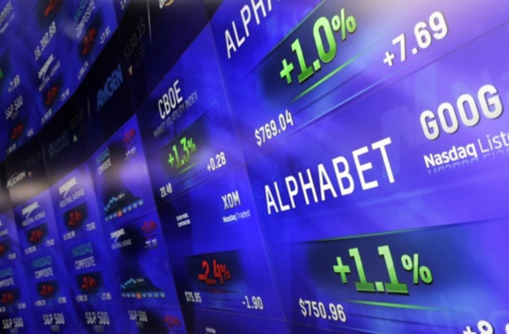 Starke Quartalszahlen beflügelten die Alphabet-Aktien. Foto: AP