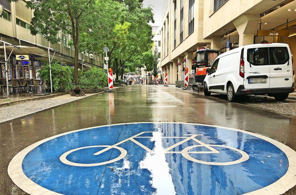 Fahrradstraße und  Fußgängerzone passen künftig nicht mehr zusammen. Foto: Haar