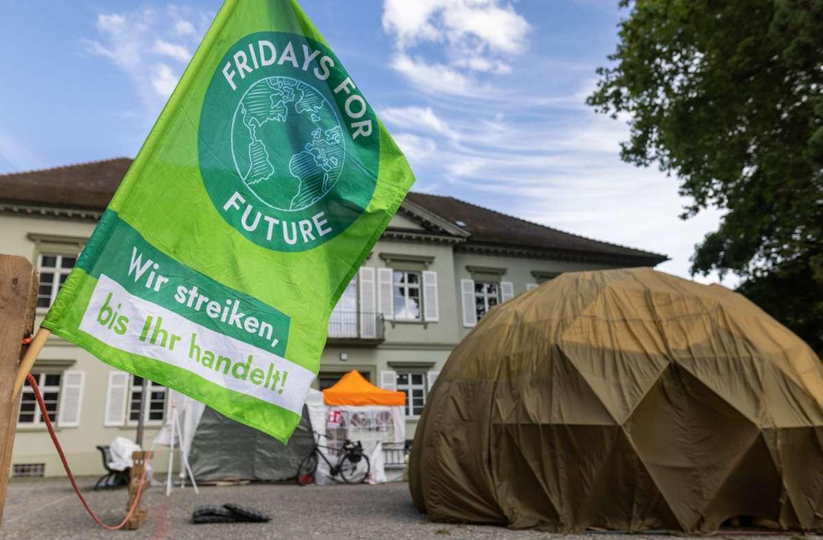 Mit einer Demonstration soll das Camp am Freitag eingeweiht werden. Foto: dpa/Philipp von Ditfurth