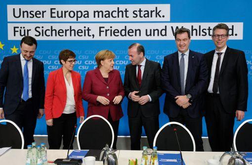 CDU und CSU präsentieren ihr Europaprogramm
