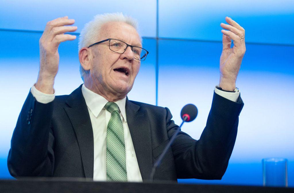 Laut Winfried Kretschmann (Grüne) müsse die Innovationsdynamik vor allem bei kleinen und mittleren Unternehmen besser werden. Foto: dpa/Marijan Murat