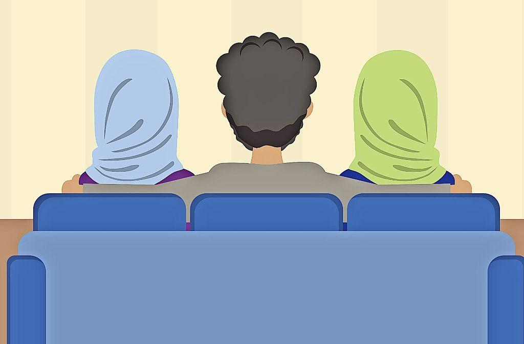 Ein Mann, zwei Frauen: eigentlich verboten, doch immer wieder kommt es vor. Foto: