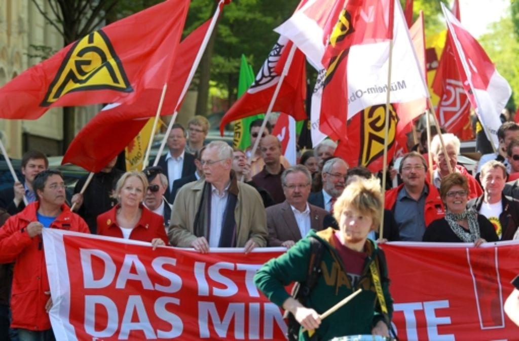 Wenigstens für die Gewerkschaften hat der Tag der Arbeit noch Symbolkraft. Foto: dpa