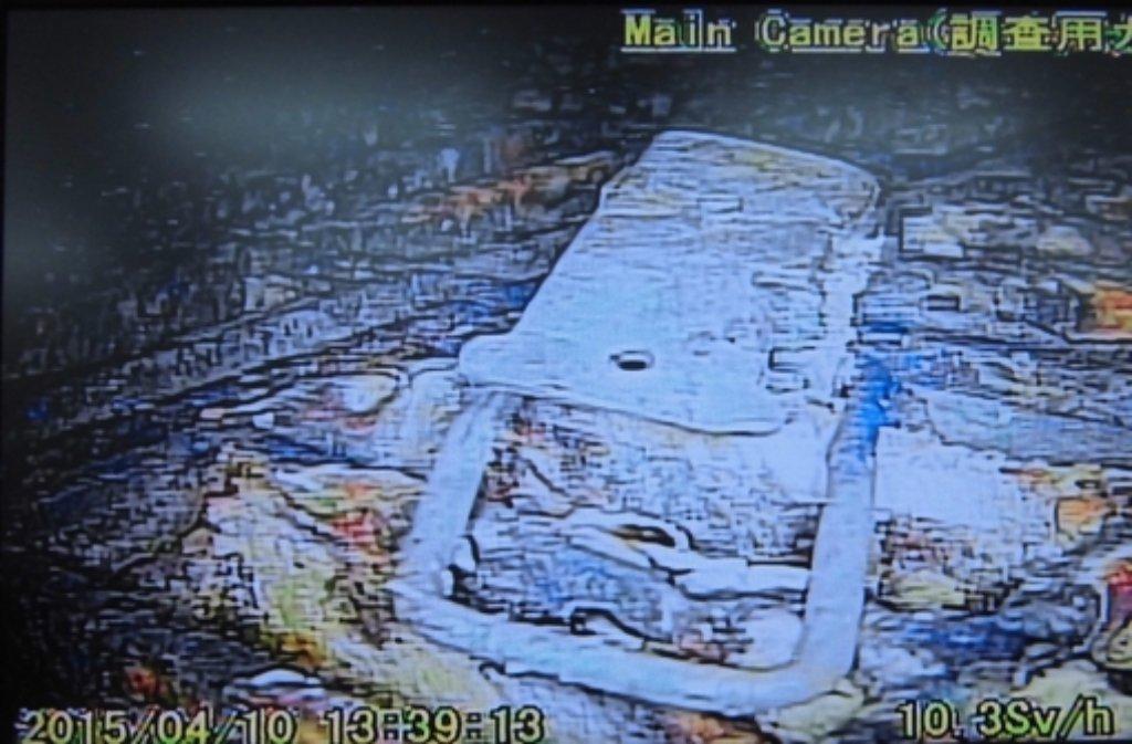 Bilder aus dem Inneren des Unglückreaktors in Fukushima.  Foto: TEPCO