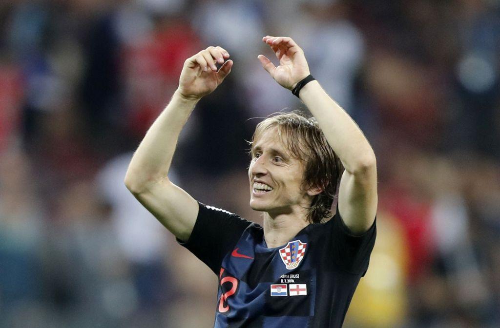 Wird im Alter immer besser: Kroatiens Luka Modric Foto: AP