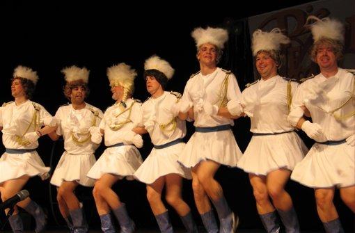 Die Blaue Garde hat beim Hexenball Tradition. Foto: Archiv Gabi Ridder