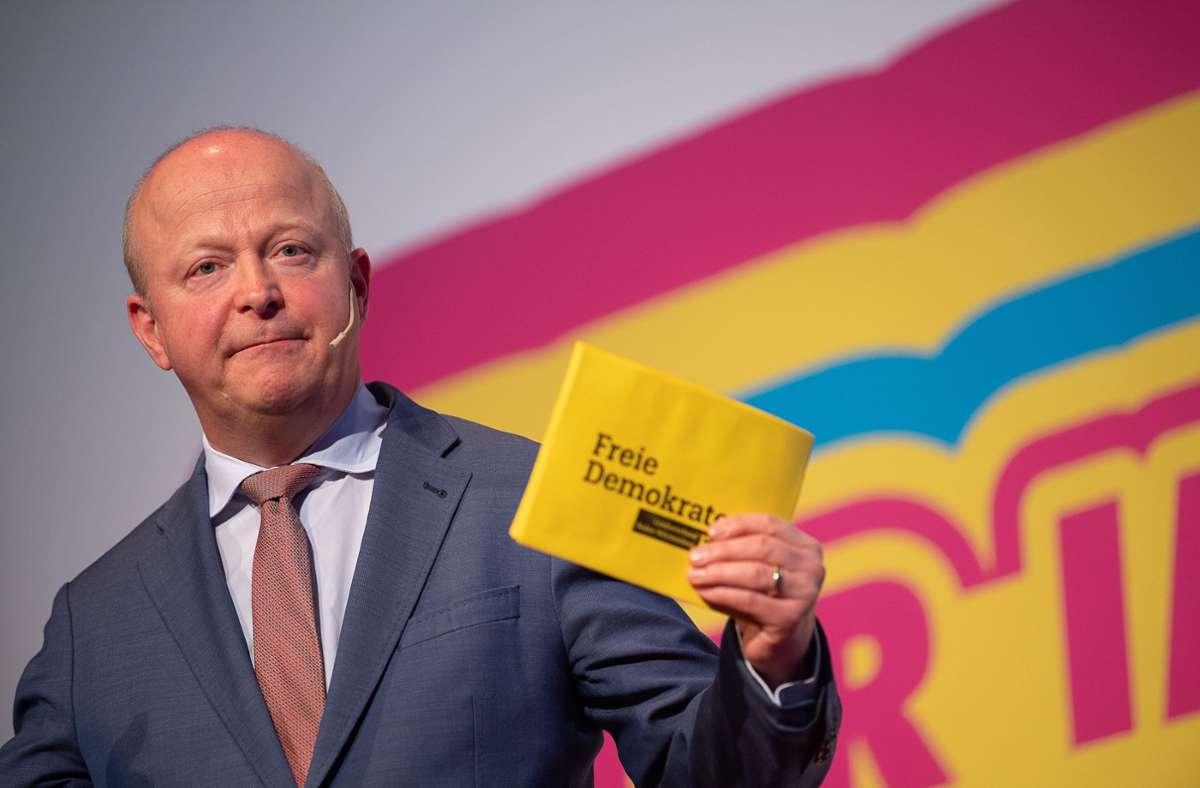 """""""Dieses Land hat sich nicht generalstabsmäßig vorbereitet"""", sagte der FDP-Landesvorsitzende Michael Theurer am Dienstag. Foto: dpa/Sebastian Gollnow"""