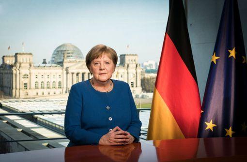 Angela Merkel hofft auf Solidarität und Einsicht der Bürger