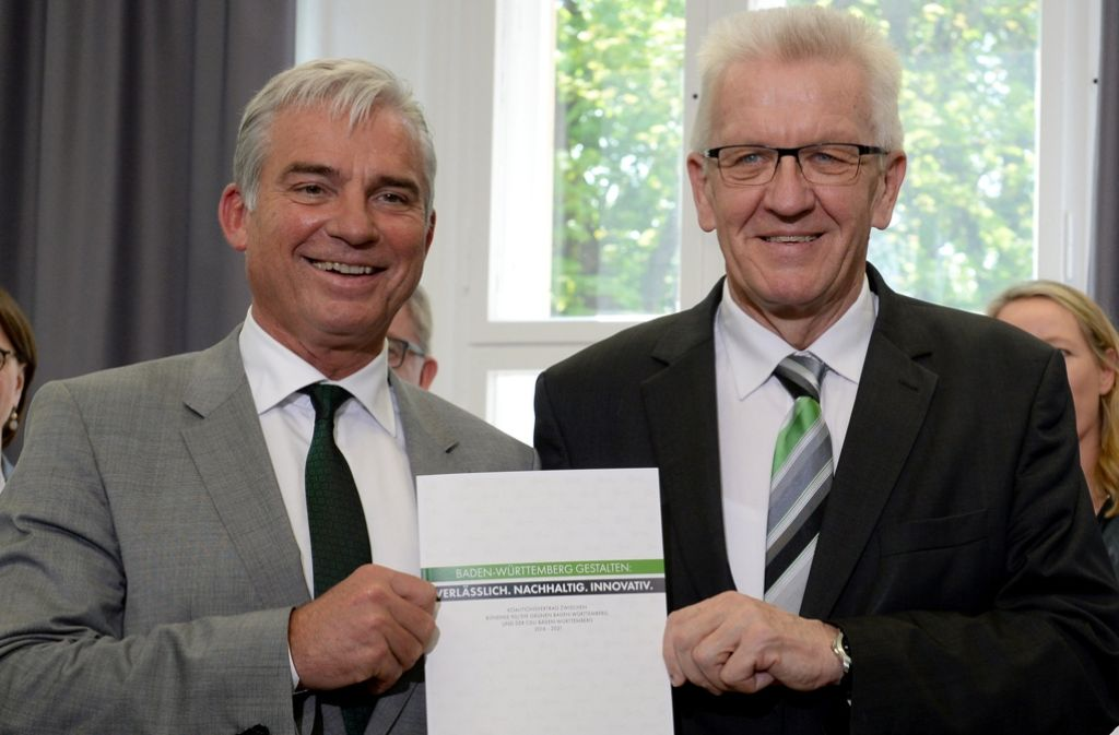 Thomas Strobl (li.) und Winfried Kretschmann dürften  noch manche unangenehme Debatte ins Haus stehen. Foto: dpa