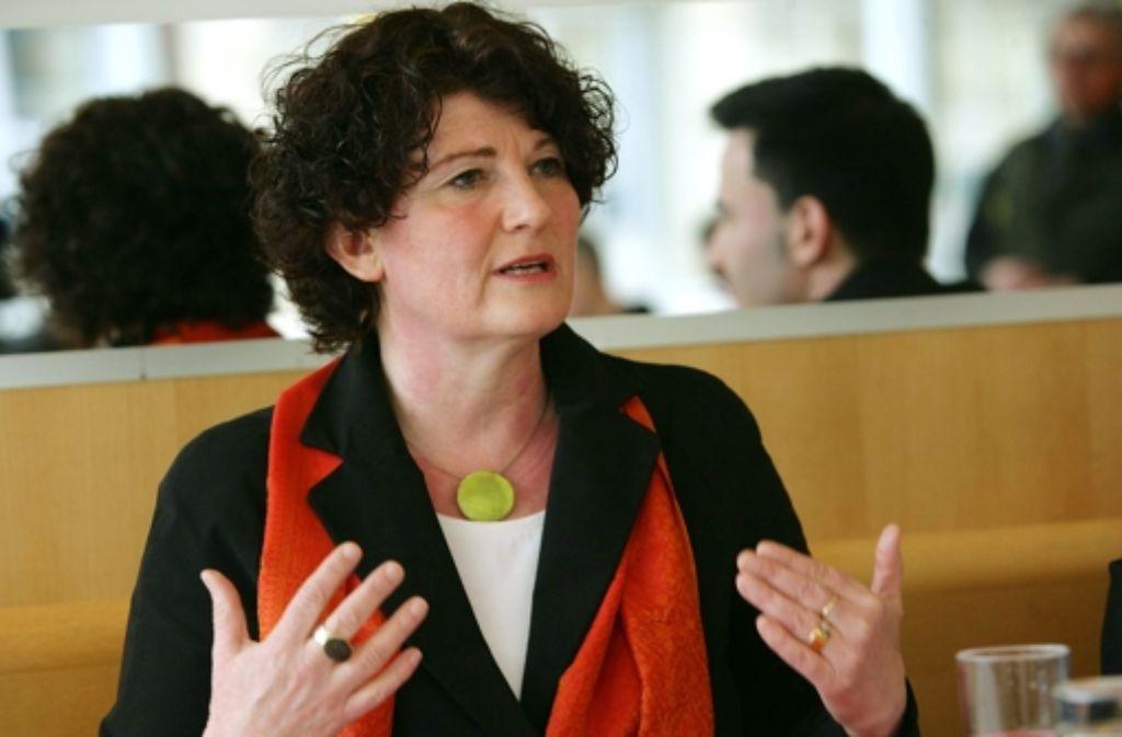 Das Ziel ist klar: Bettina Wilhelm will ins Stuttgarter Rathaus einziehen. Foto: Achim Zweygarth