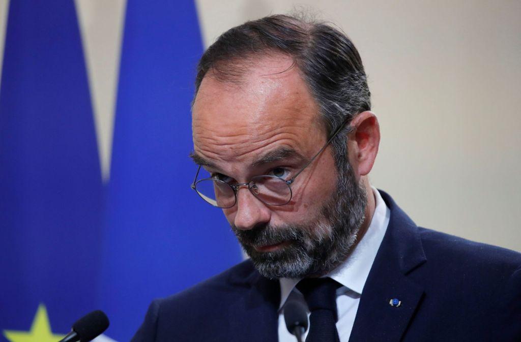 Premierminister Edouard Philippe will im Kampf gegen die illegale Einwanderung härter durchgreifen Foto: AFP/CHARLES PLATIAU