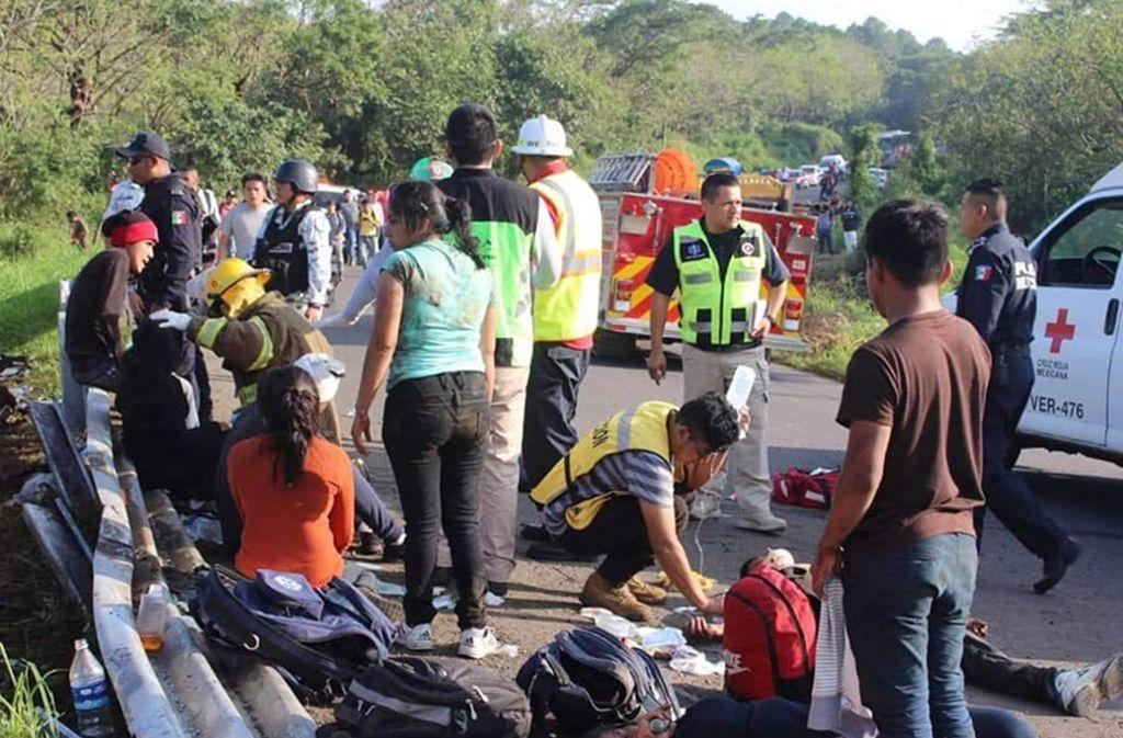 Bei dem Unglück starb ein Mensch, zahlreiche wurden verletzt. Foto: dpa/El Universal