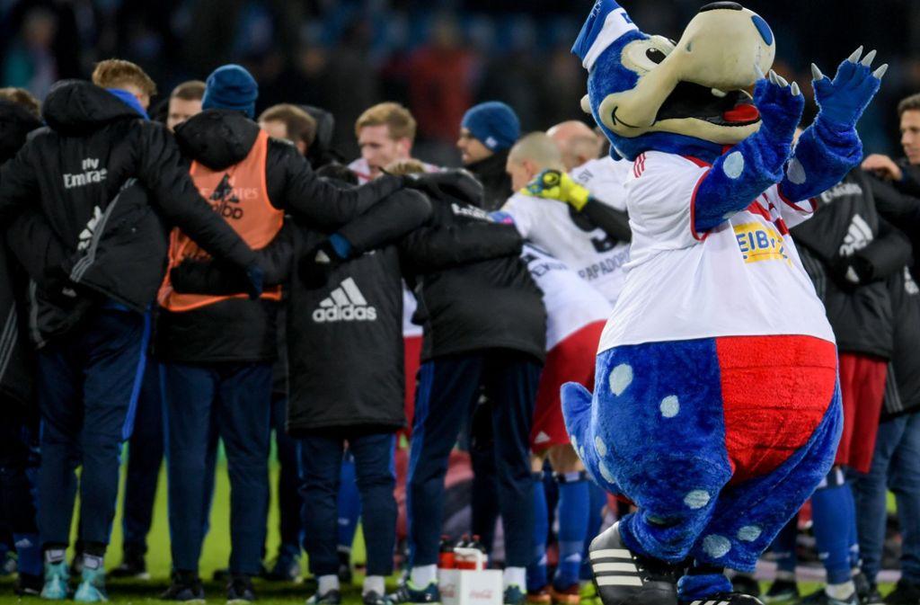 Nach Jahren im Krisenmodus gibt es beim Hamburger SV derzeit wieder öfters was zu feiern. Foto: dpa