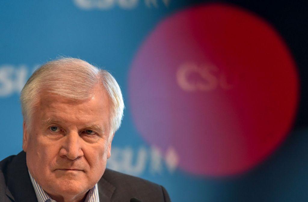 Horst Seehofer greift die Ängste der Menschen auf. Foto: AFP