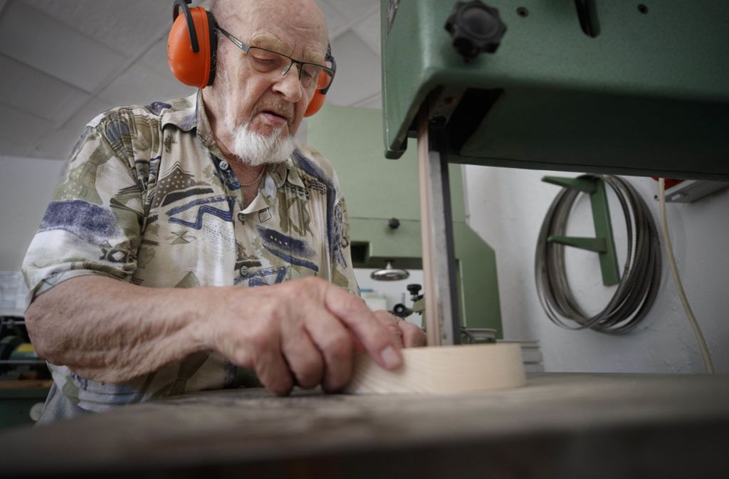 Werner Vorrath gehört zu den Mitbegründern der Seniorenwerkstatt. Foto: Gottfried Stoppel