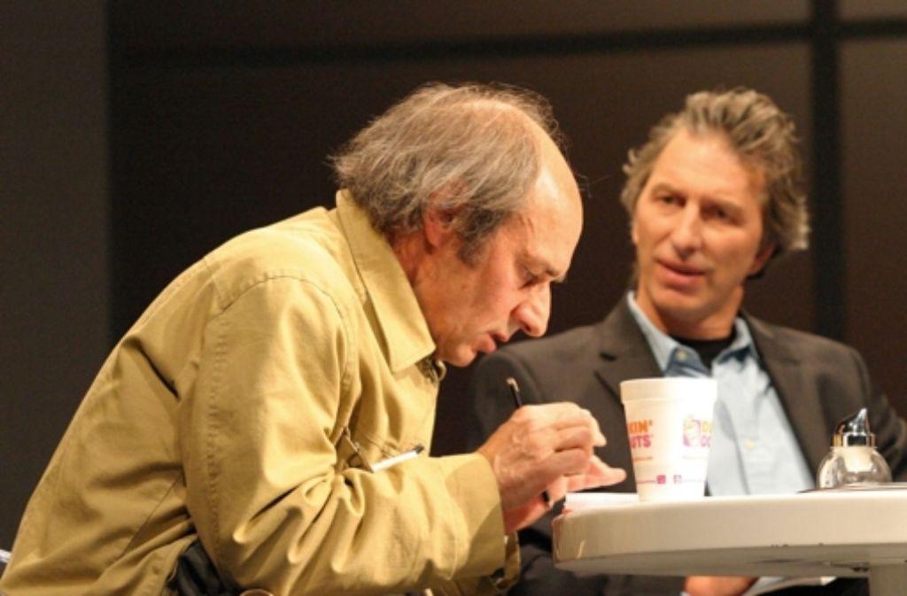 Die Produktion feierte im September 2010  mit Rufus Beck (links) und Karl Walter Sprungala in den Hauptrollen am Alten Schauspielhaus Premiere. Foto: Sabine Haymann