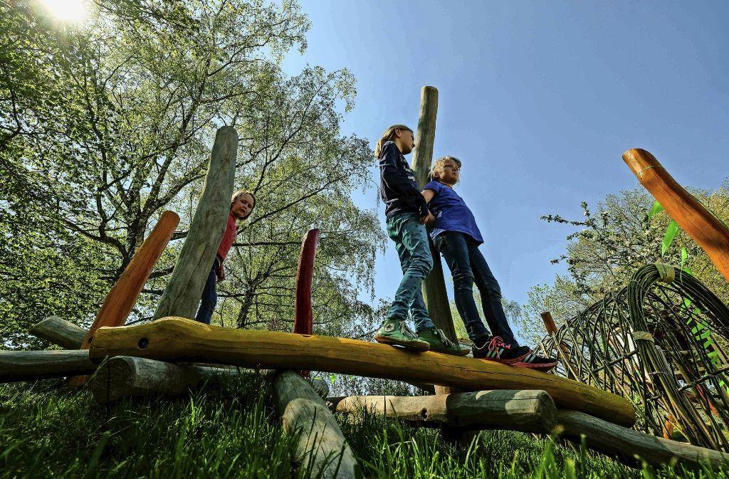 Abenteuerland für die Kleinen: der neu gestaltete Spielplatz am Lautlinger Weg in Möhringen Foto: Lichtgut/Leif Piechowski