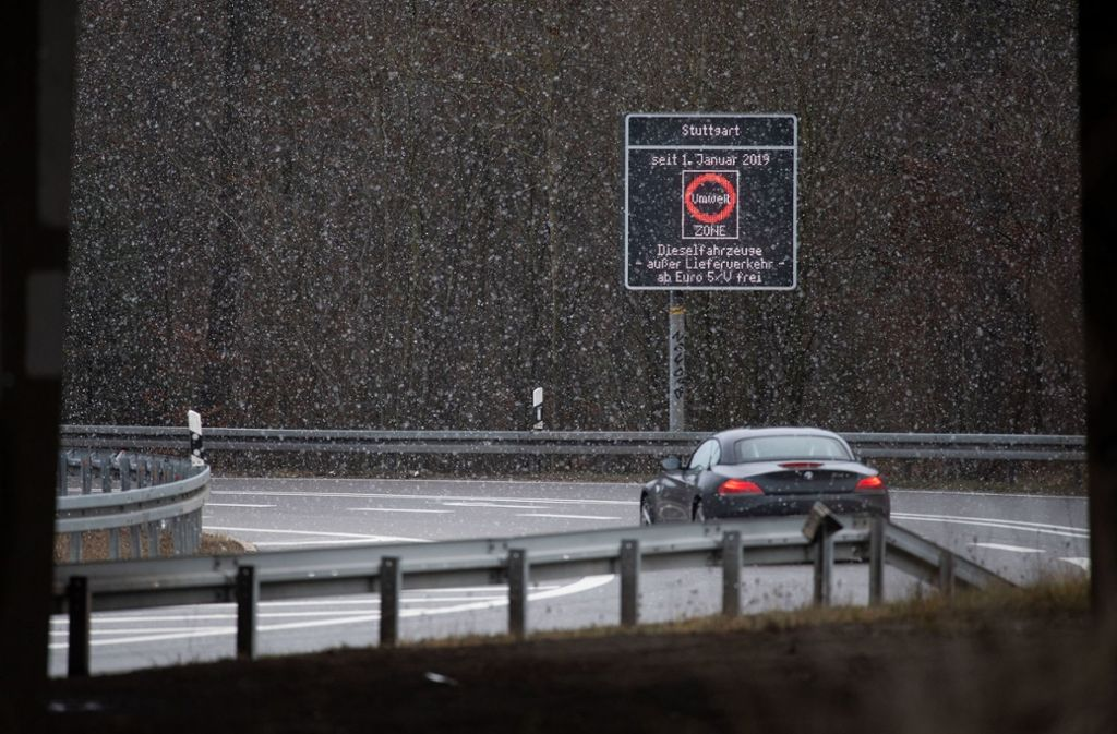 Das Diesel-Fahrverbot seit Januar für die Umweltzone Stuttgart. Foto: dpa