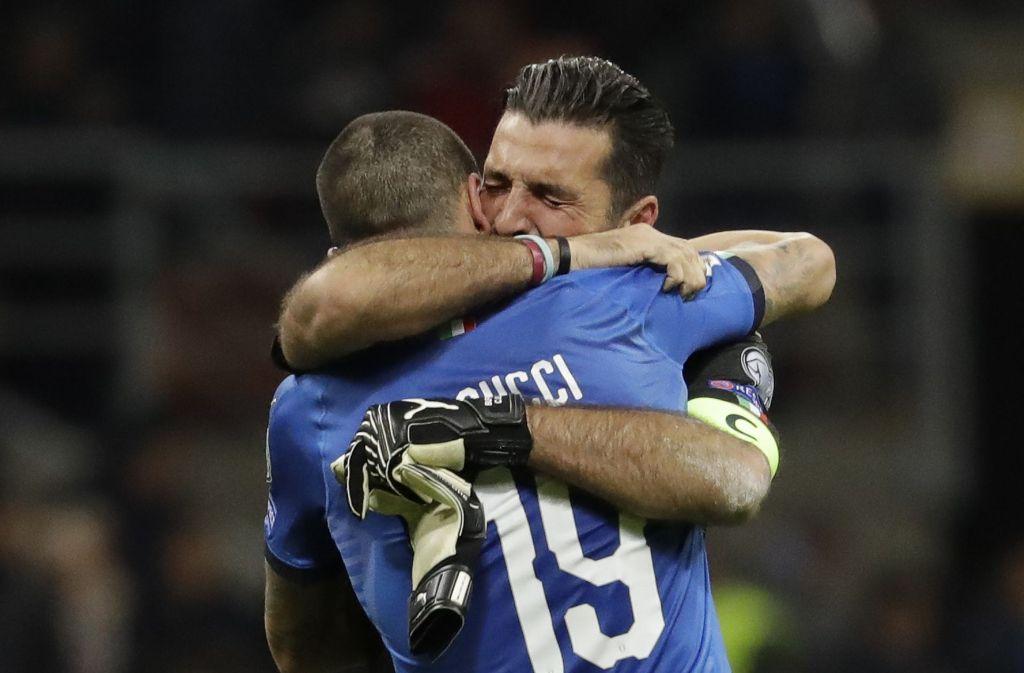 Ein Abschied voller Tränen: Gianluigi Buffon beendet seine Karriere in der Nationalmannschaft. Foto: AP