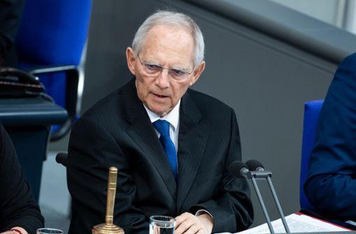 Wolfgang Schäuble tritt noch einmal  an
