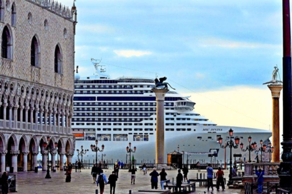 Wohin mit den Kreuzfahrtschiffen in Venedig? Foto: