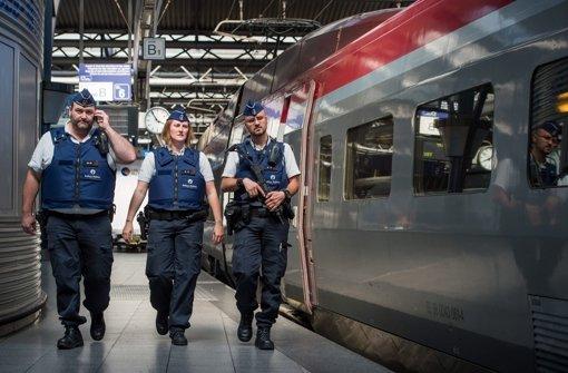 Thalys fahren mit Polizeischutz