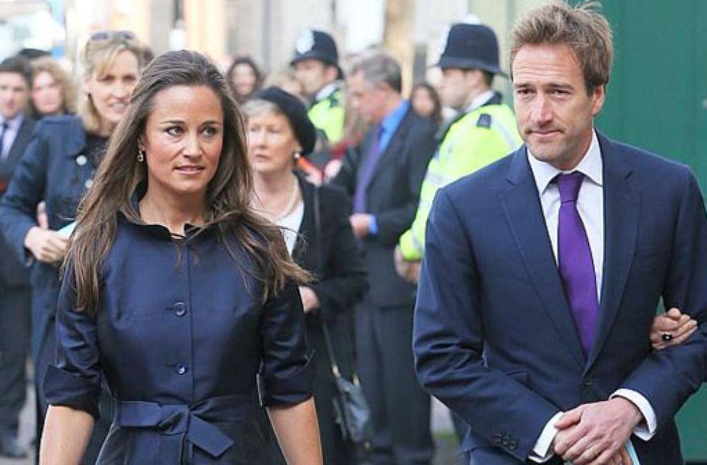 Pippa Middleton und Ben Fogle treffen zum Gedenkgottesdienst in London ein. Foto: Getty Images Europe