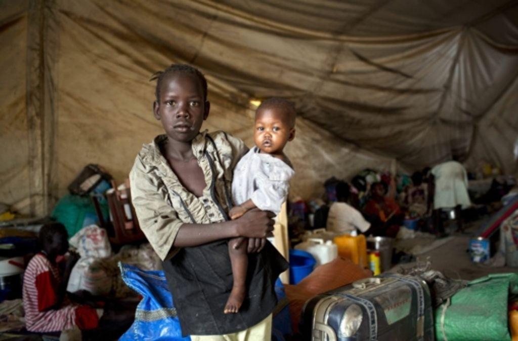 Mehrere zehntausende Menschen leben unter extremen Bedingungen im noch jungen Staat Südsudan. Foto: dpa