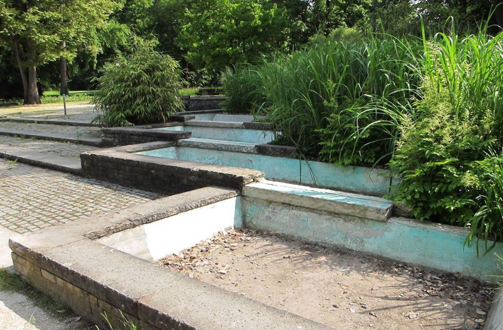 Für die Brunnenanlage fehlt noch immer eine Firma, die sie im Oberen Kurpark  saniert. Foto: Archiv