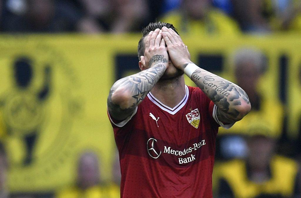 In der zweiten Halbzeit lief beim VfB nicht mehr viel zusammen. Foto: AP