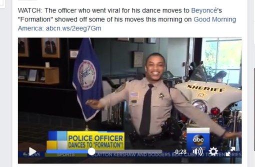 US-Polizist begeistert mit Beyoncé-Moves