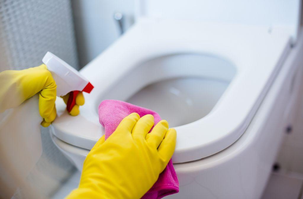 Bei der Verwendung von chemischen Reinigern sollten Sie immer Handschuhe tragen. Foto: Daniel Jedzura / shutterstock.com