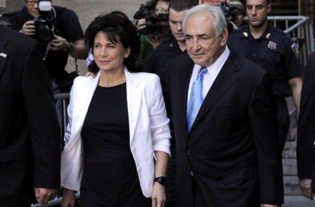Dominique Strauss-Kahn und seine damalige Frau Anne Sinclair. Foto: dpa