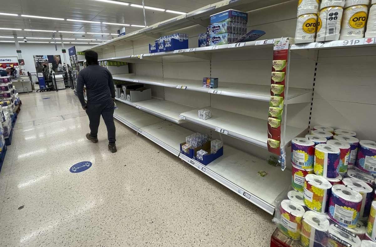 Die britische Wirtschaft  leidet seit Wochen unter erheblichen Lieferproblemen. Foto: dpa/Frank Augstein