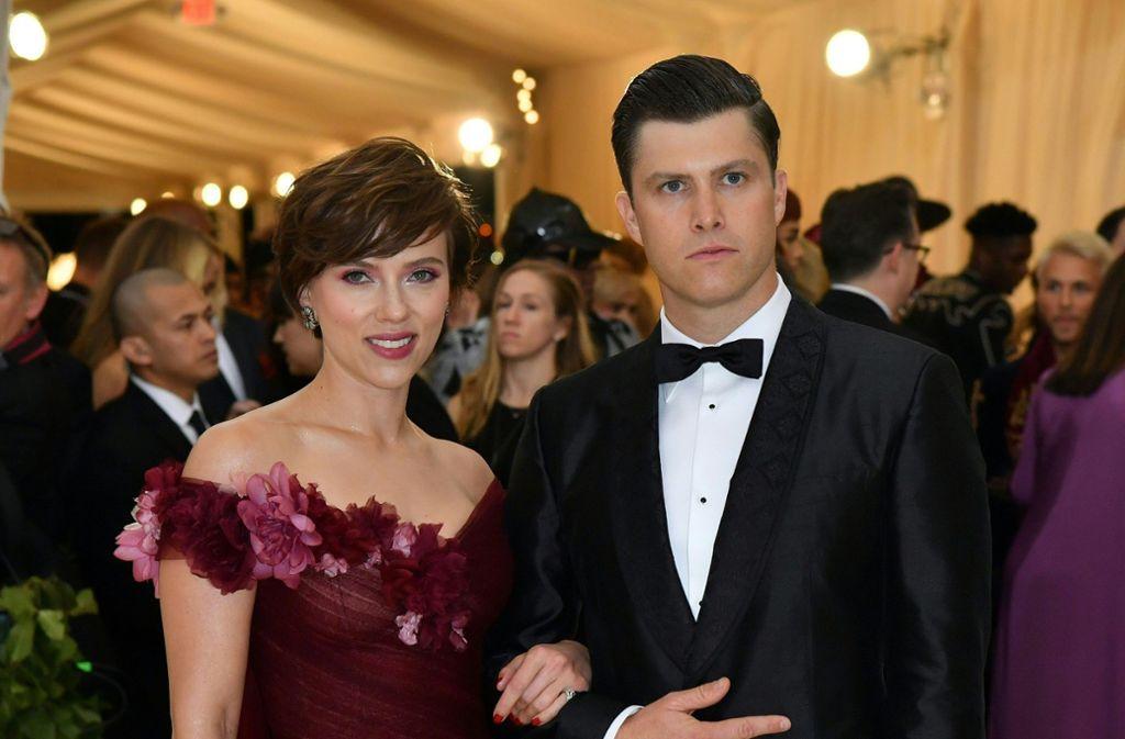 Scarlett Johansson und Colin Jost Foto: AFP