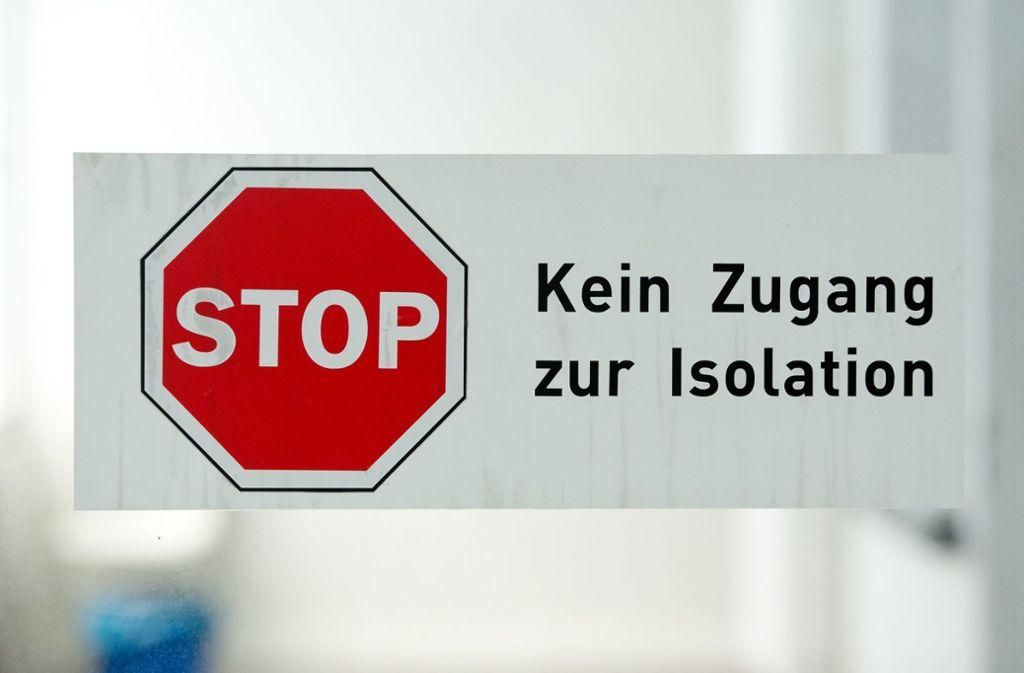 Verdachtsfälle auf das Coronavirus werden in den Krankenhäusern isoliert untergebracht. Foto: dpa/Sven Hoppe