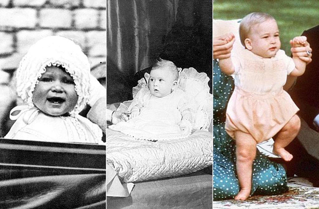 Windsor-Sprösslinge aus drei Generationen: Wer die pausbackigen Babys sind, erfahren Sie in unserer Bildergalerie. Foto: dpa/AP