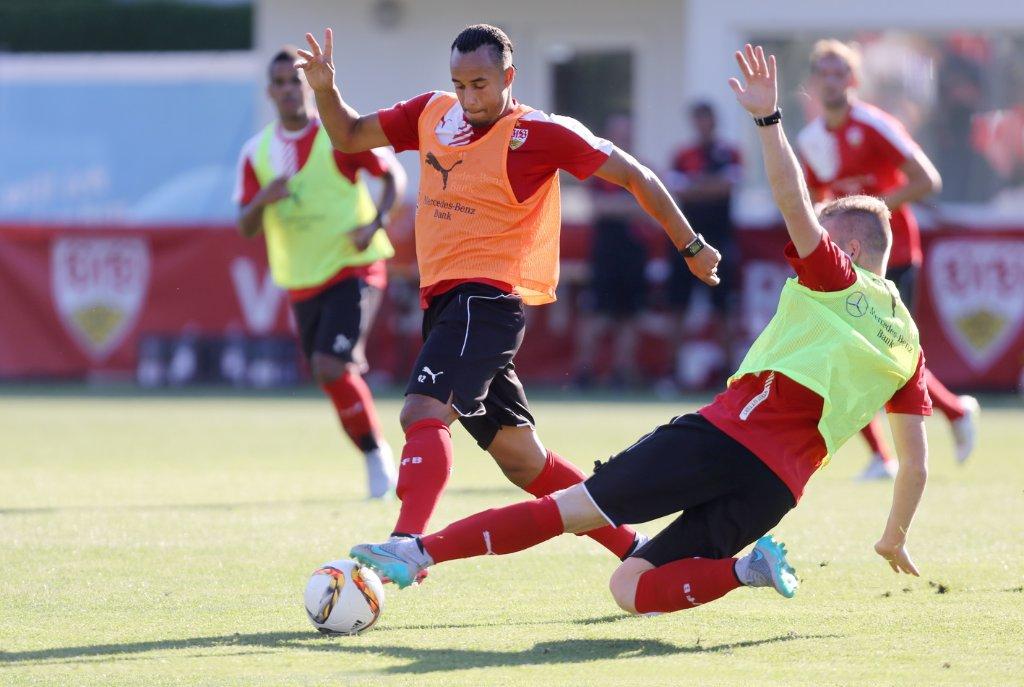Der VfB Stuttgart bestreitet ein erstes Testspiel. Foto: Pressefoto Baumann