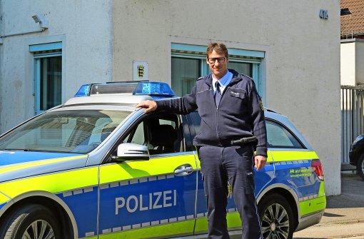 Peter Dieminiger sorgt in  den Oberen Neckarvororten  für Sicherheit. Foto: Caroline Friedmann