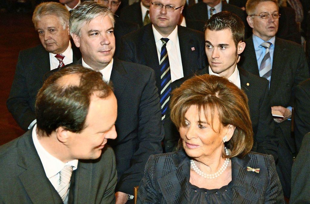 Im Jahr 2008 mit Charlotte Knobloch vom Zentralrat der Juden. Foto: Archiv
