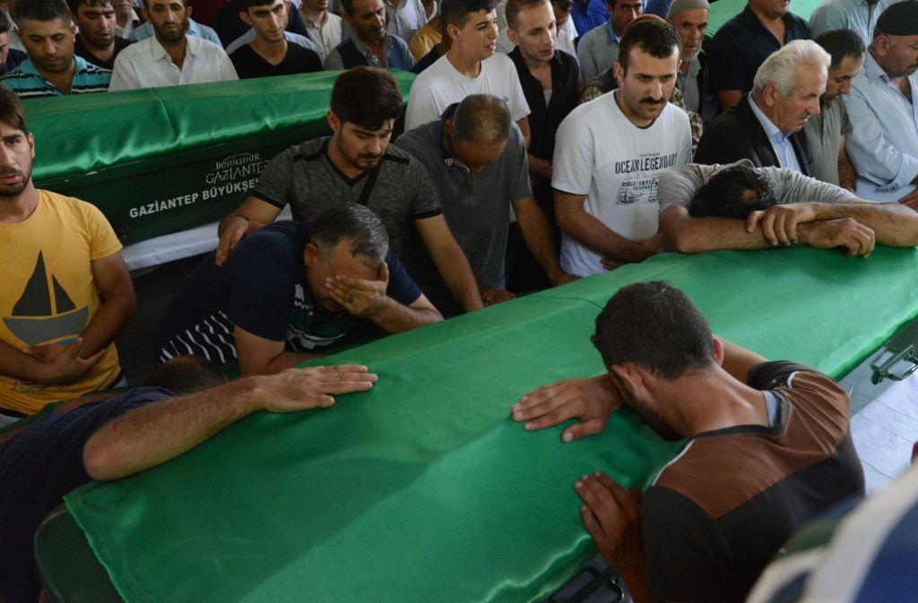 Bei dem Anschlag auf eine Hochzeitsfeier in Gaziantep wurden mehr als 50 Menschen getötet. Foto: AFP