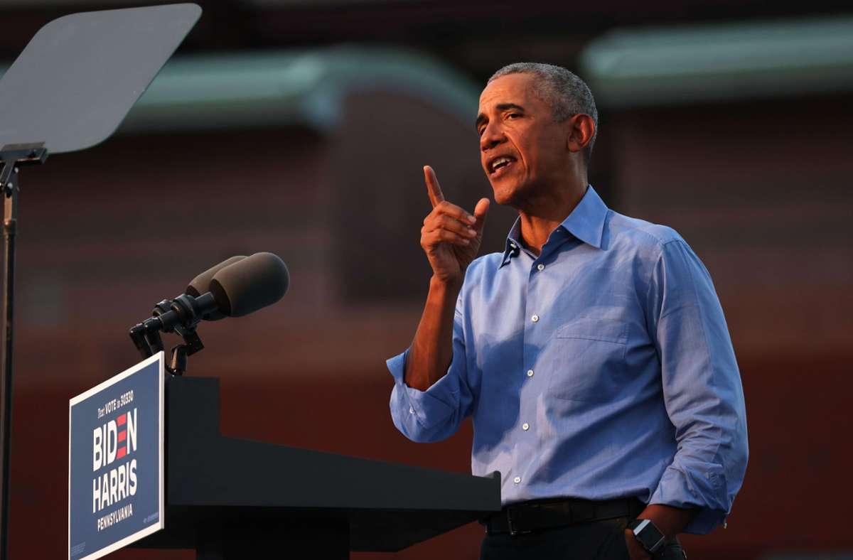 """Er hat es vermasselt"" – Barack Obama lässt kein gutes Haar an Donald Trump. Foto: AFP/Michael M. Santiago"