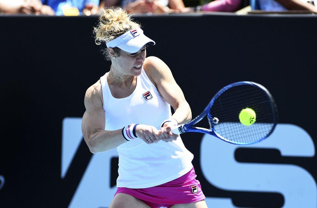Laura Siegemund aus Metzingen besiegte US-Tennistalent Cori Gauff in Auckland. Foto: dpa/Chris Symes