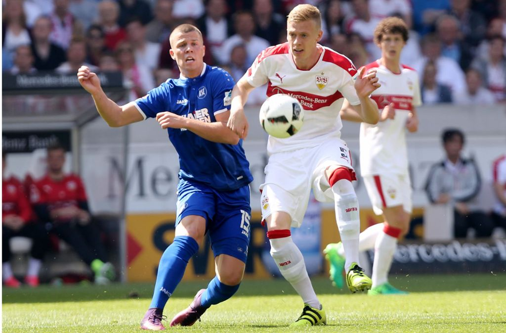 Im April 2017 spielten der VfB und der KSC das letzte Mal gegeneinander. Foto: Baumann