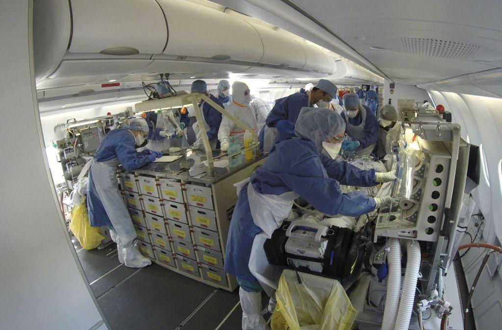 Aus dem besonder betroffenen Elsass mussten viele Coronapatienten in Kliniken in Baden-Württemberg gebracht werden. Foto: dpa/Uncredited